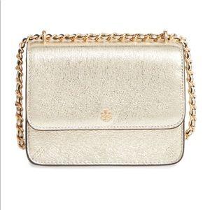 NWOT - Tory Burch : Metallic Gold Crossbody Bag